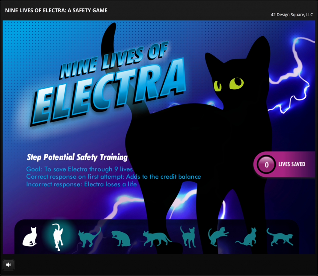 Nine Lives of Electra: A Safety Game elearning